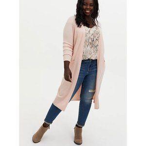 🌷 NEW Torrid Light Pink Soft Duster Cardigan 3X